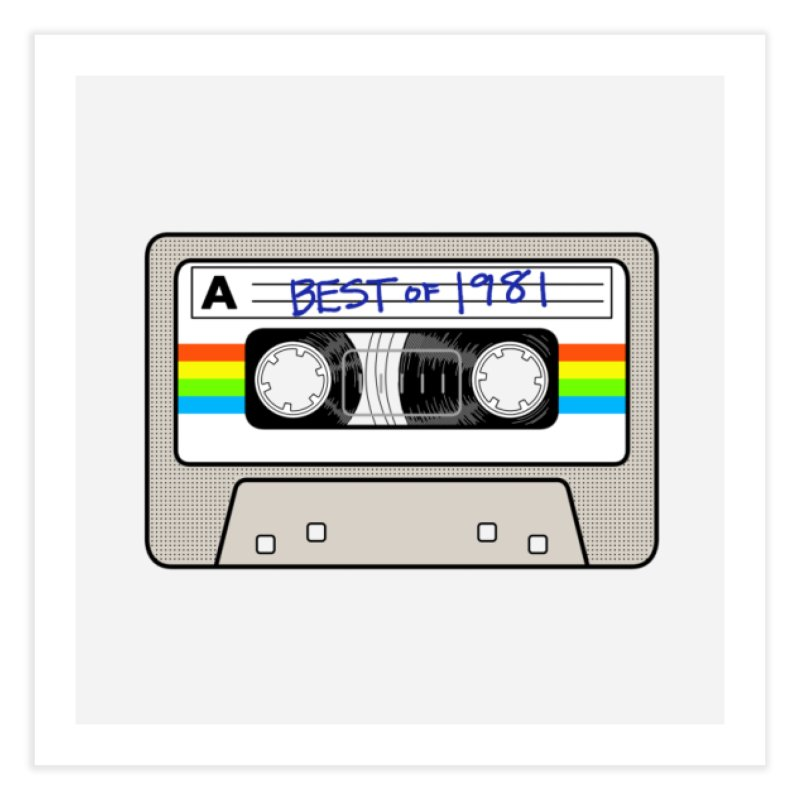 Mixtape: Best of 1981 Home Fine Art Print by Tees, prints, and more by Kiki B