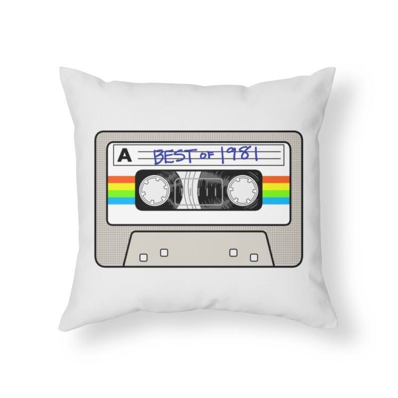 Mixtape: Best of 1981 Home Throw Pillow by Tees, prints, and more by Kiki B