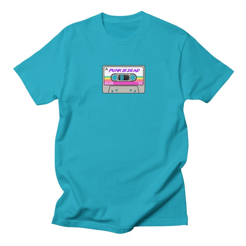 Mixtape: Punk is Dead in Men's Regular T-Shirt Cyan by Tees, prints, and more by Kiki B