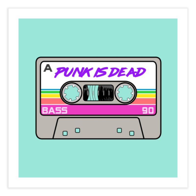 Mixtape: Punk is Dead Home Fine Art Print by Tees, prints, and more by Kiki B