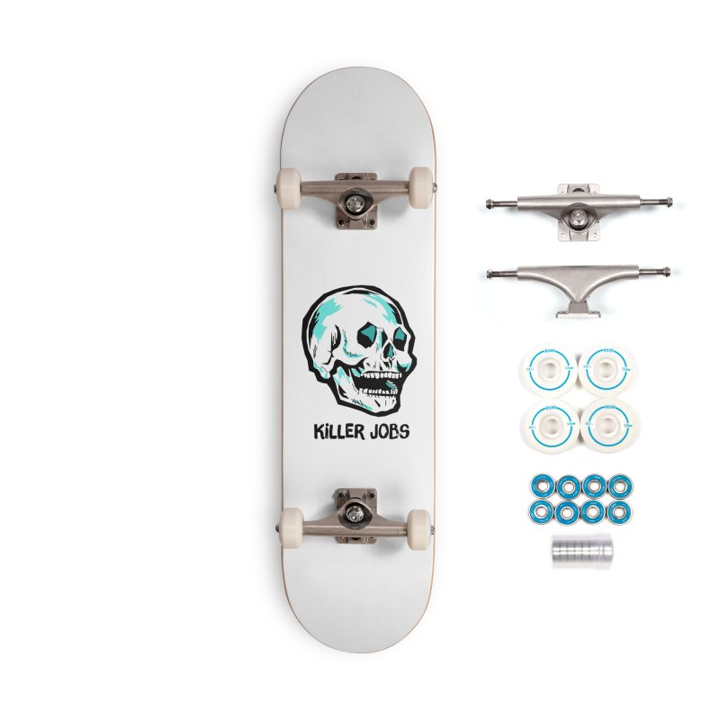 Skull Logo Accessories Skateboard by KILLER JOBS: Serial Killer Podcast