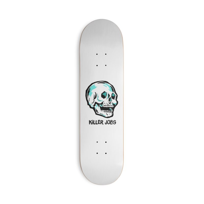 Skull Logo Accessories Skateboard by KILLER JOBS: Serial Killer Podcast
