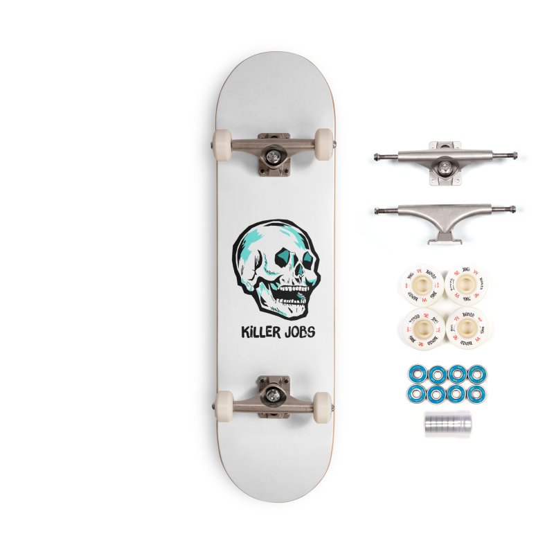 Skull Logo Accessories Complete - Premium Skateboard by KILLER JOBS: Serial Killer Podcast