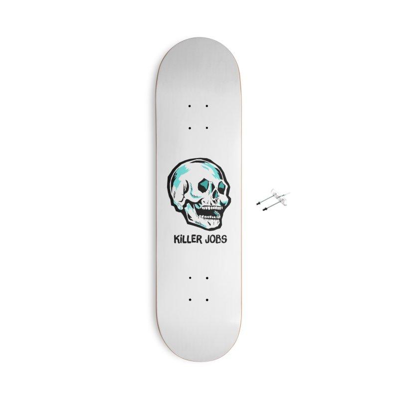 Skull Logo Accessories With Hanging Hardware Skateboard by KILLER JOBS: Serial Killer Podcast