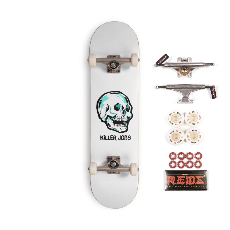 Skull Logo Accessories Complete - Pro Skateboard by KILLER JOBS: Serial Killer Podcast