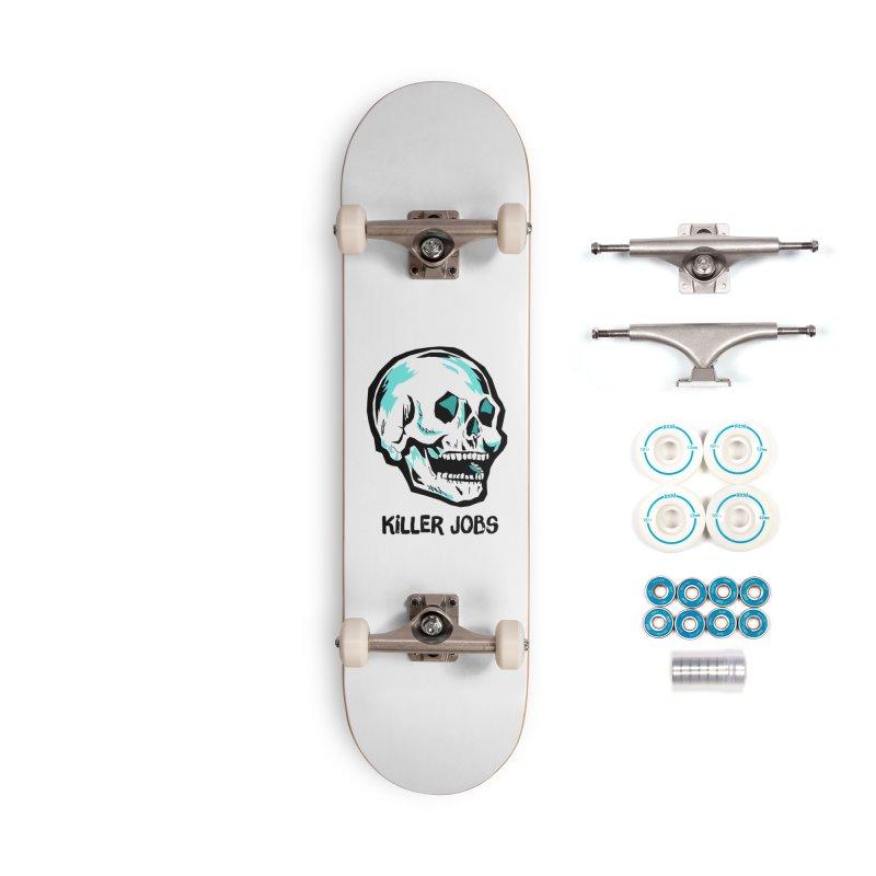 Skull Logo Accessories Complete - Basic Skateboard by KILLER JOBS: Serial Killer Podcast