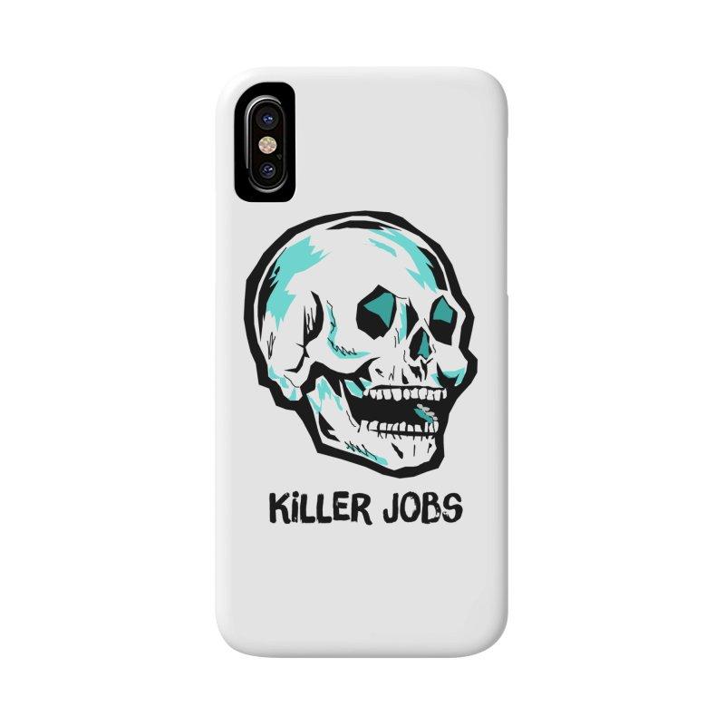 Skull Logo Accessories Phone Case by KILLER JOBS: Serial Killer Podcast