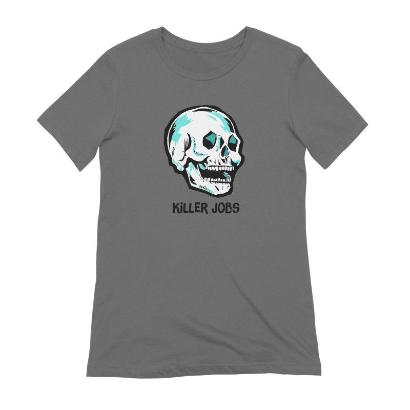 Skull Logo Women's Extra Soft T-Shirt by KILLER JOBS: Serial Killer Podcast
