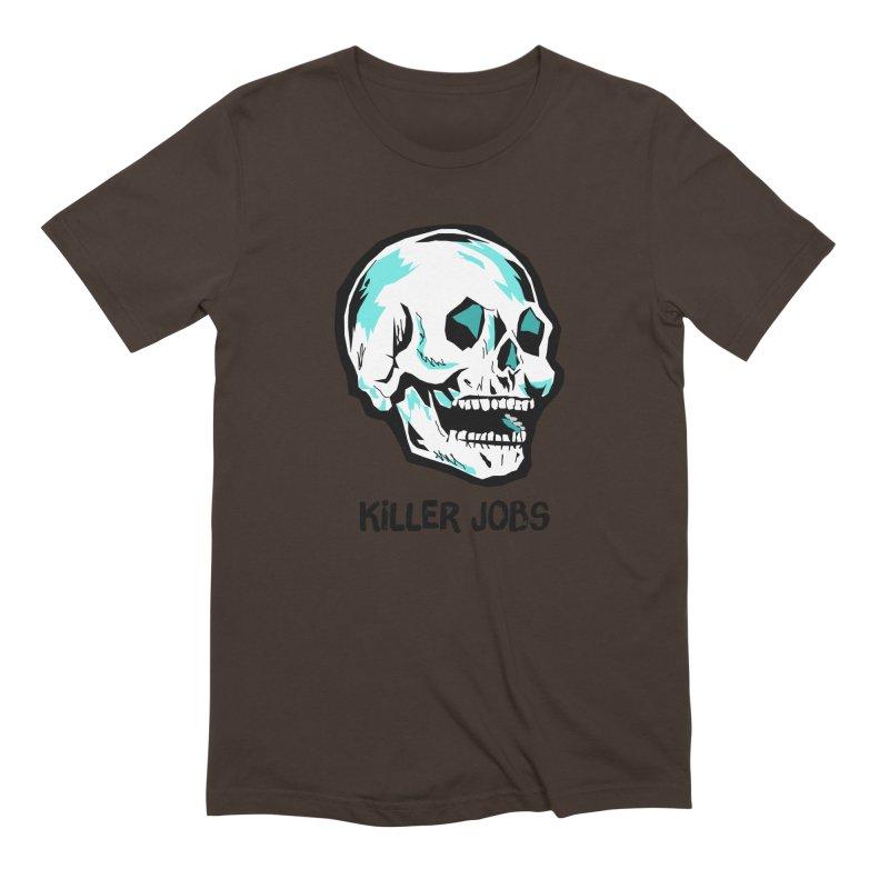 Skull Logo Men's Extra Soft T-Shirt by KILLER JOBS: Serial Killer Podcast