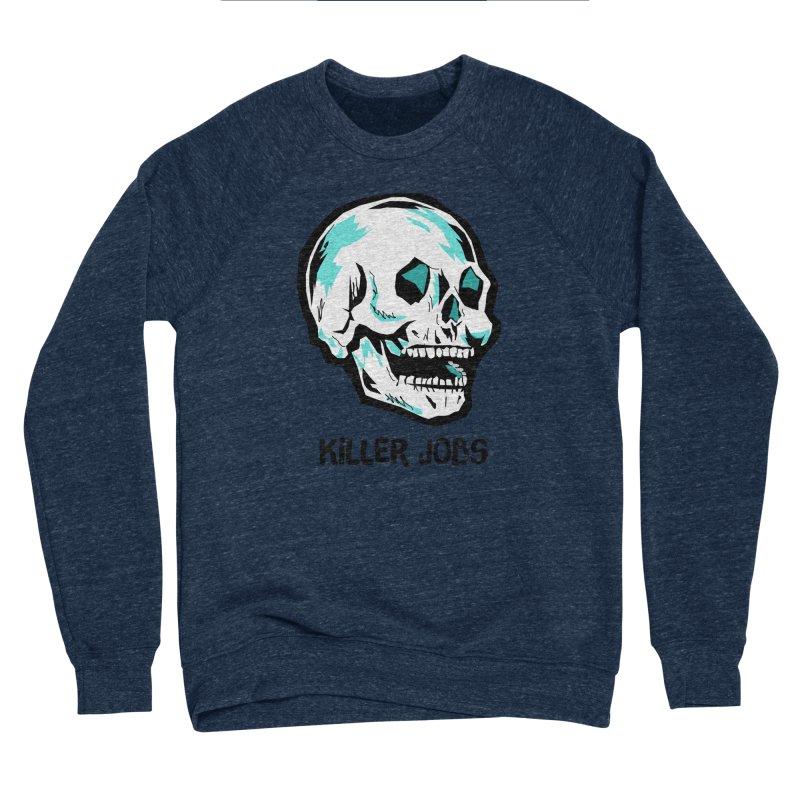Skull Logo Men's Sponge Fleece Sweatshirt by KILLER JOBS: Serial Killer Podcast