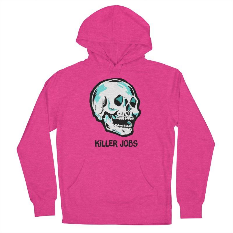 Skull Logo Women's French Terry Pullover Hoody by KILLER JOBS: Serial Killer Podcast