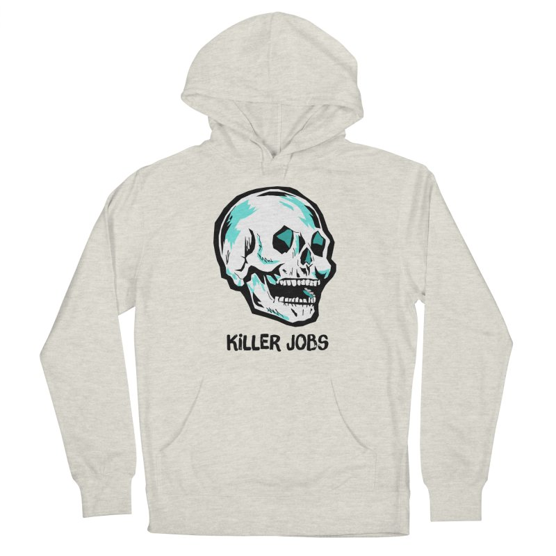 Skull Logo Men's French Terry Pullover Hoody by KILLER JOBS: Serial Killer Podcast