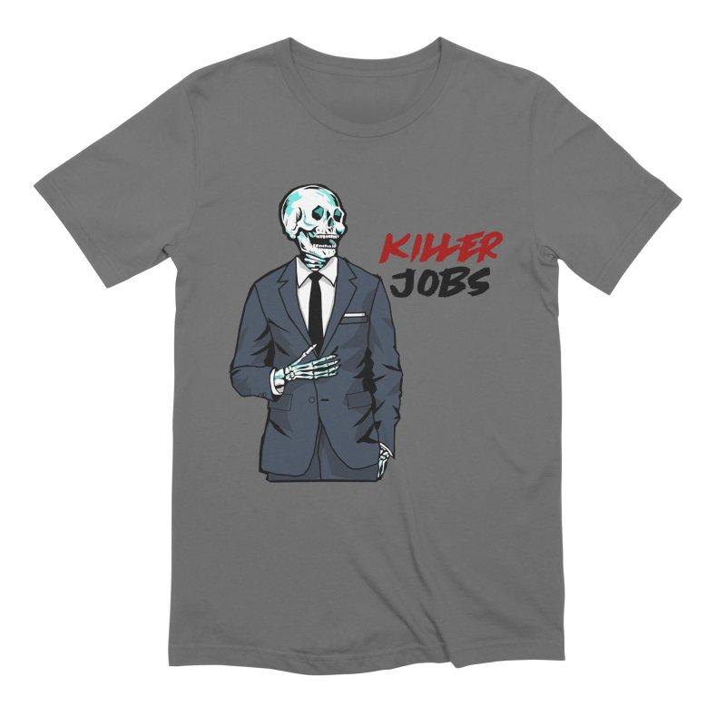 Skeleton Logo T-Shirt Design Men's T-Shirt by KILLER JOBS: Serial Killer Podcast