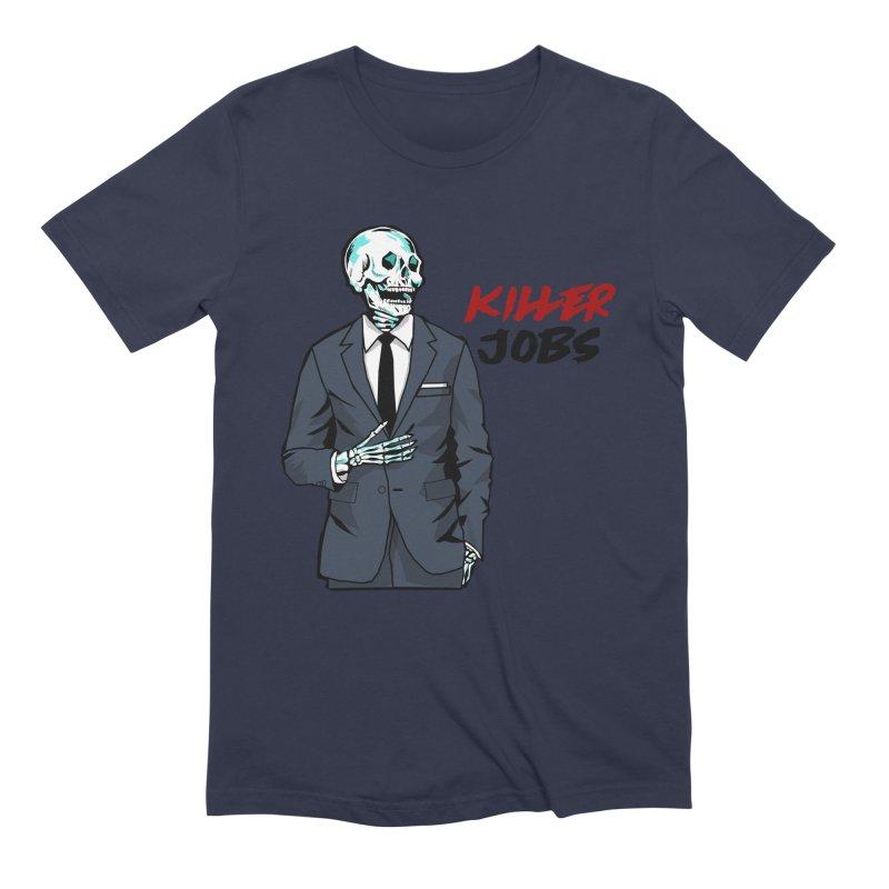Skeleton Logo T-Shirt Design Men's Extra Soft T-Shirt by KILLER JOBS: Serial Killer Podcast