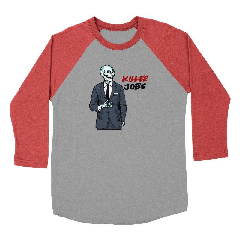 Skeleton Logo T-Shirt Design Men's Longsleeve T-Shirt by KILLER JOBS: Serial Killer Podcast