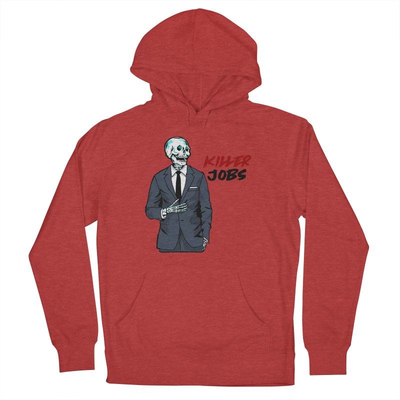 Skeleton Logo Hoodie Design Men's French Terry Pullover Hoody by KILLER JOBS: Serial Killer Podcast