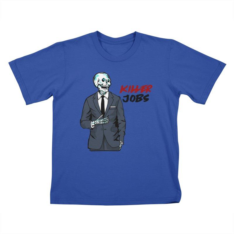 Skeleton Logo Accessory Kids T-Shirt by KILLER JOBS: Serial Killer Podcast