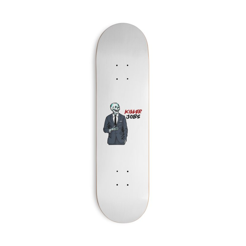 Skeleton Logo Accessory Accessories Deck Only Skateboard by KILLER JOBS: Serial Killer Podcast