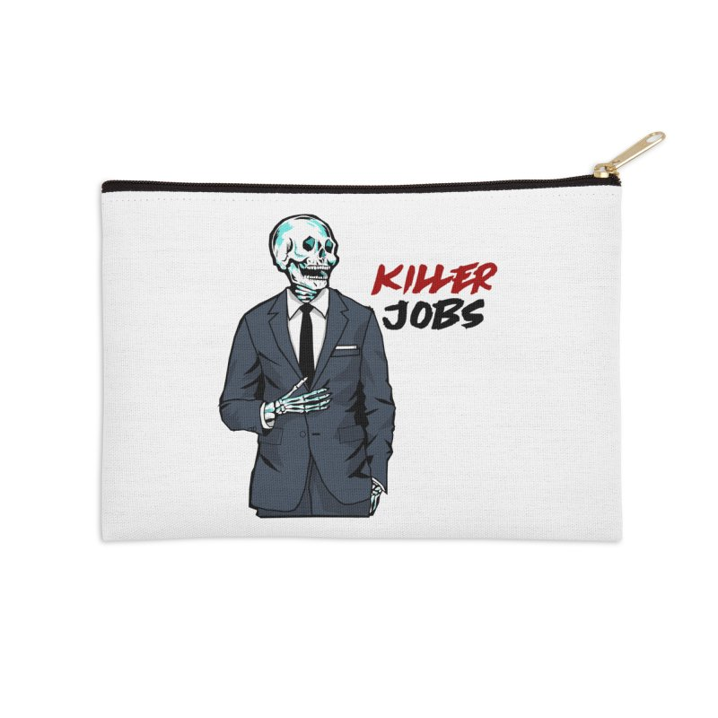 Skeleton Logo Accessory Accessories Zip Pouch by KILLER JOBS: Serial Killer Podcast