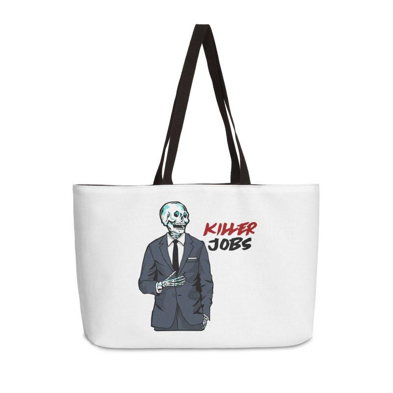 Skeleton Logo Accessory Accessories Weekender Bag Bag by KILLER JOBS: Serial Killer Podcast