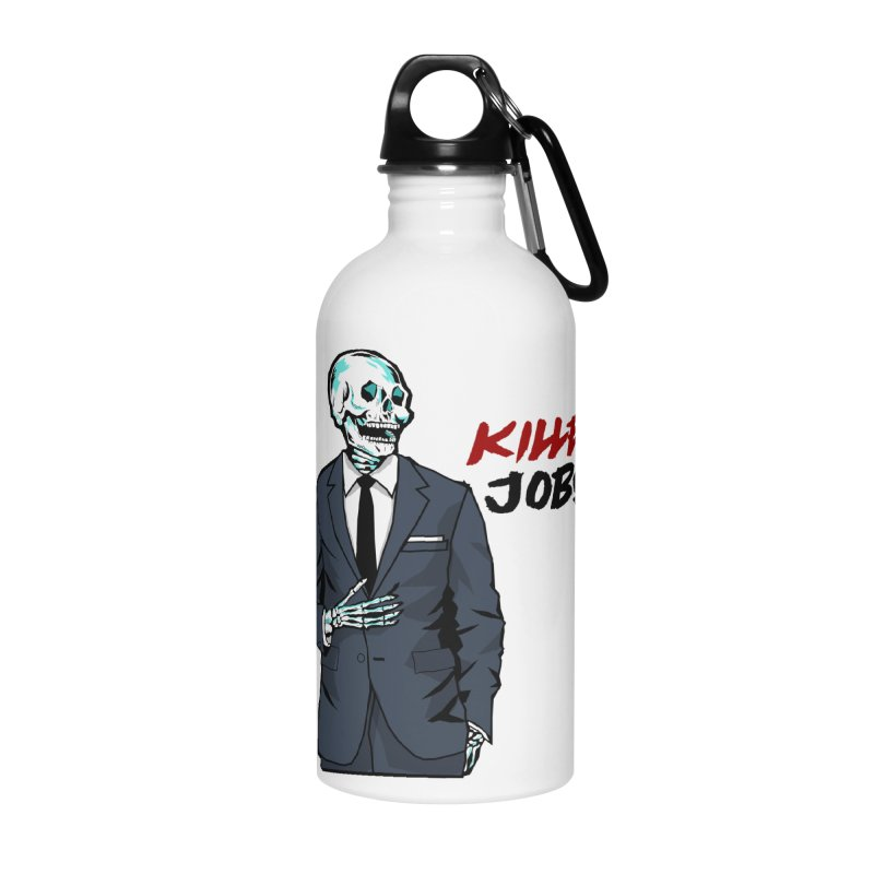 Skeleton Logo Accessory Accessories Water Bottle by KILLER JOBS: Serial Killer Podcast