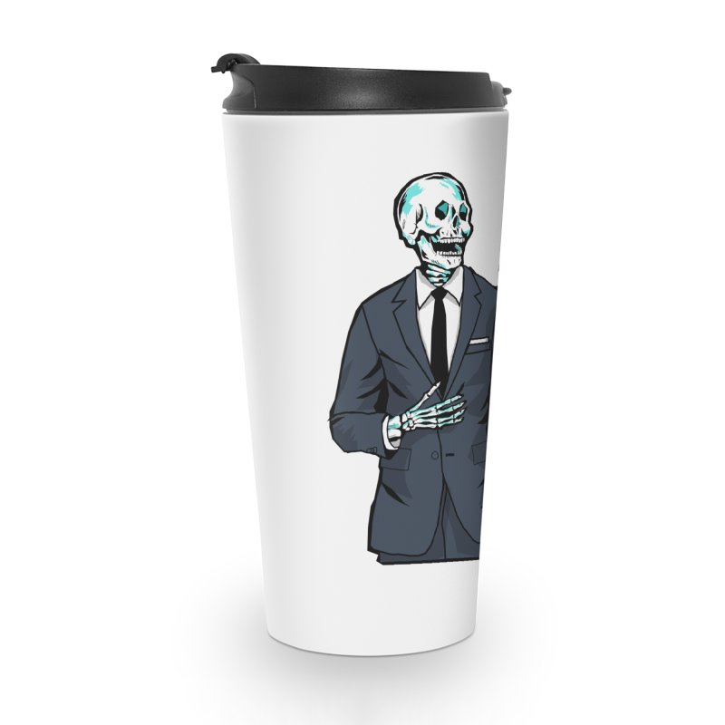 Skeleton Logo Accessory Accessories Travel Mug by KILLER JOBS: Serial Killer Podcast