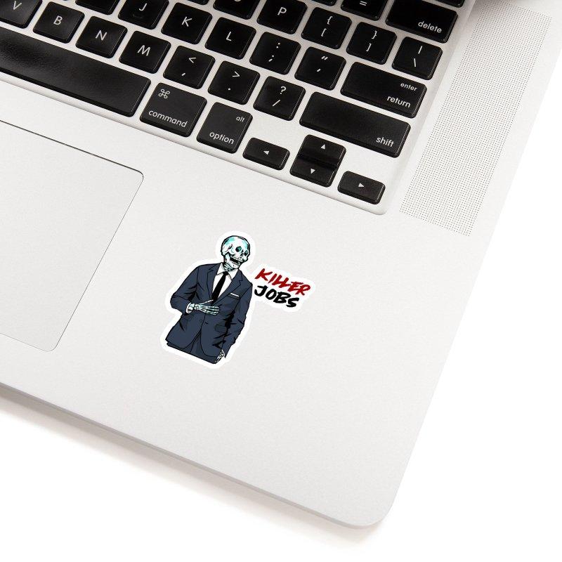 Skeleton Logo Accessory Accessories Sticker by KILLER JOBS: Serial Killer Podcast