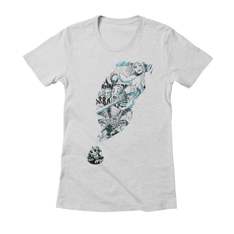Seize the Quill in Women's Fitted T-Shirt Heather Grey by Kill Shakespeare's Artist Shop