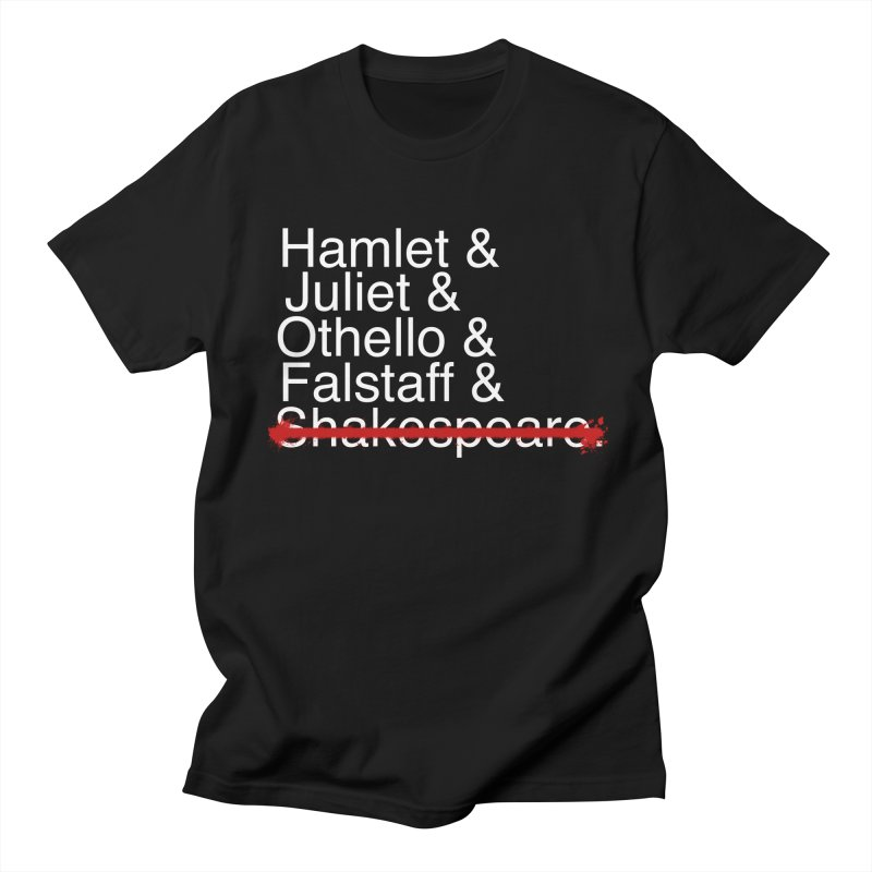 Classic Trashy Helvetica Tee in Men's T-shirt Black by Kill Shakespeare's Artist Shop