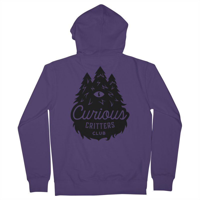 Curious Critters Club - Logo English Women's French Terry Zip-Up Hoody by kilopop's Artist Shop