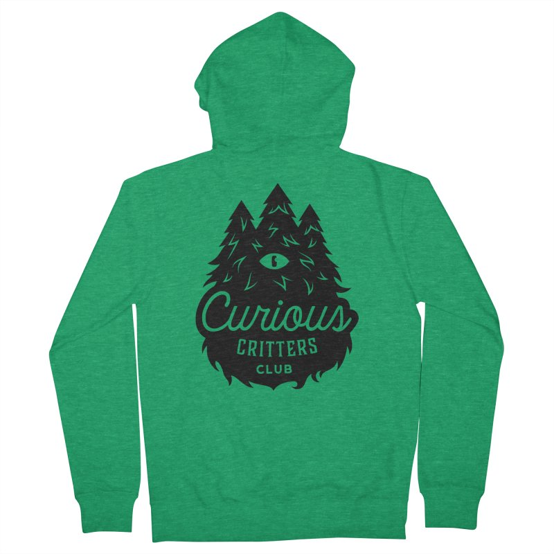 Curious Critters Club - Logo English Men's French Terry Zip-Up Hoody by kilopop's Artist Shop