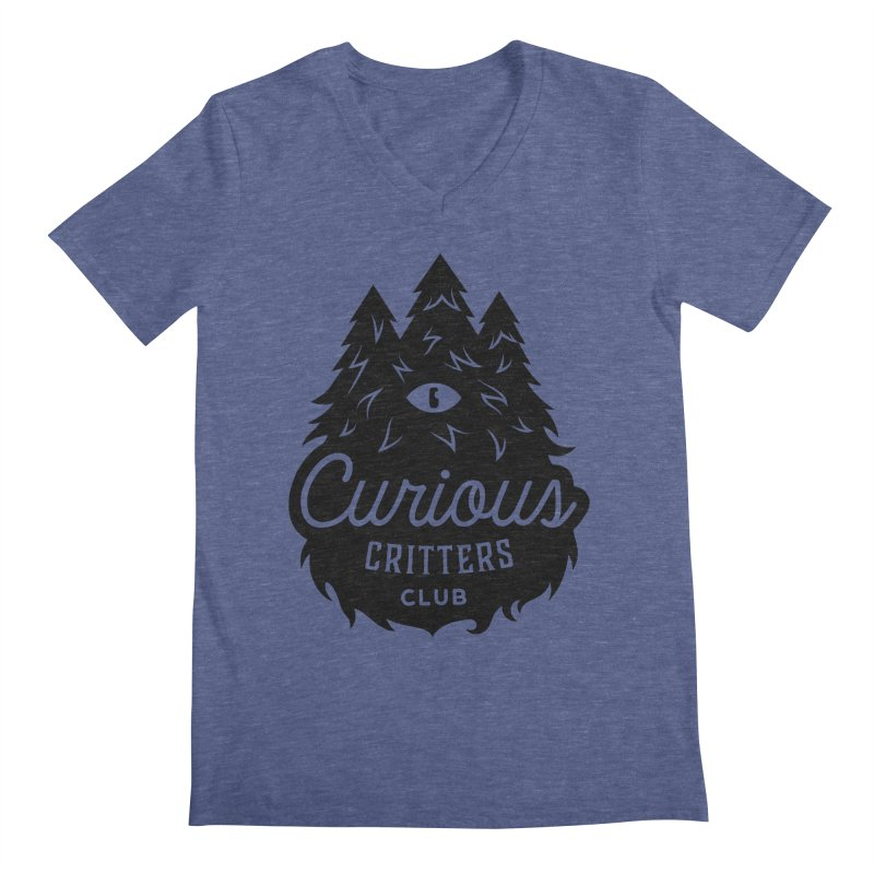Curious Critters Club - Logo English Men's Regular V-Neck by kilopop's Artist Shop
