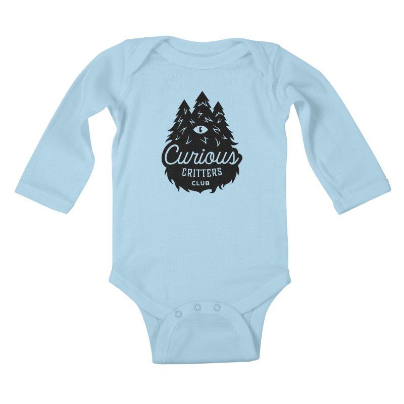 Curious Critters Club - Logo English Kids Baby Longsleeve Bodysuit by kilopop's Artist Shop