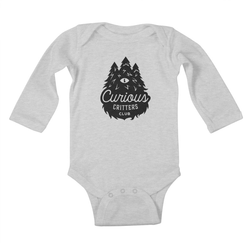 Curious Critters Club - Logo English Kids Baby Longsleeve Bodysuit by kilopop's Artist Shop