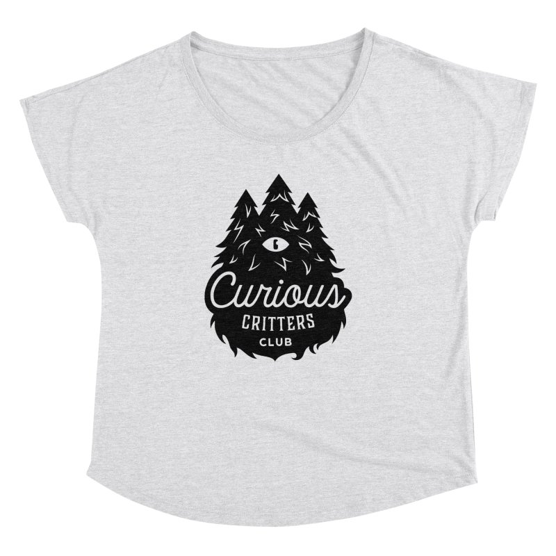 Curious Critters Club - Logo English Women's Dolman Scoop Neck by kilopop's Artist Shop