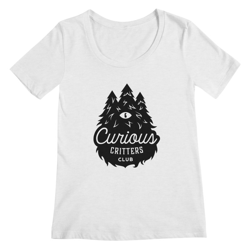 Curious Critters Club - Logo English Women's Regular Scoop Neck by kilopop's Artist Shop