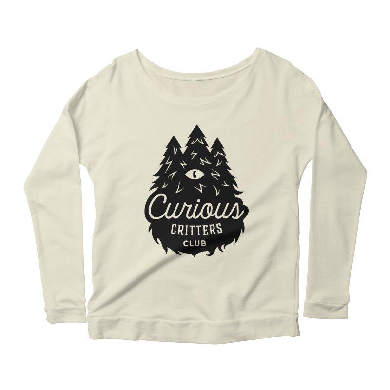 Curious Critters Club - Logo English Women's Longsleeve Scoopneck  by kilopop's Artist Shop