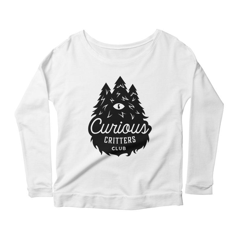 Curious Critters Club - Logo English Women's Scoop Neck Longsleeve T-Shirt by kilopop's Artist Shop