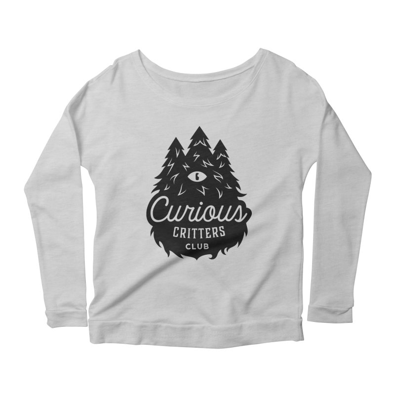 Curious Critters Club - Logo English Women's Longsleeve Scoopneck  by kilopop's Artist Shop