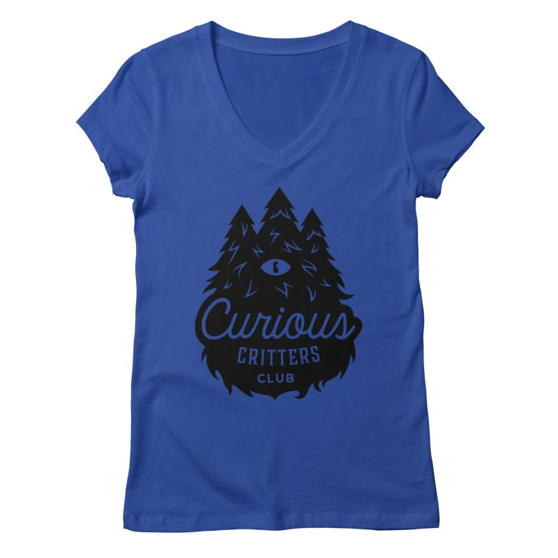 Curious Critters Club - Logo English Women's Regular V-Neck by kilopop's Artist Shop