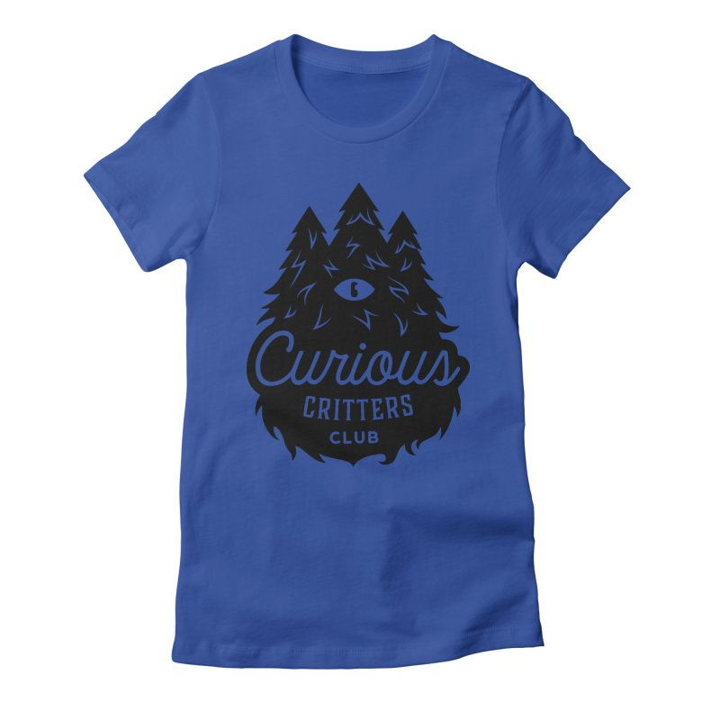 Curious Critters Club - Logo English Women's Fitted T-Shirt by kilopop's Artist Shop
