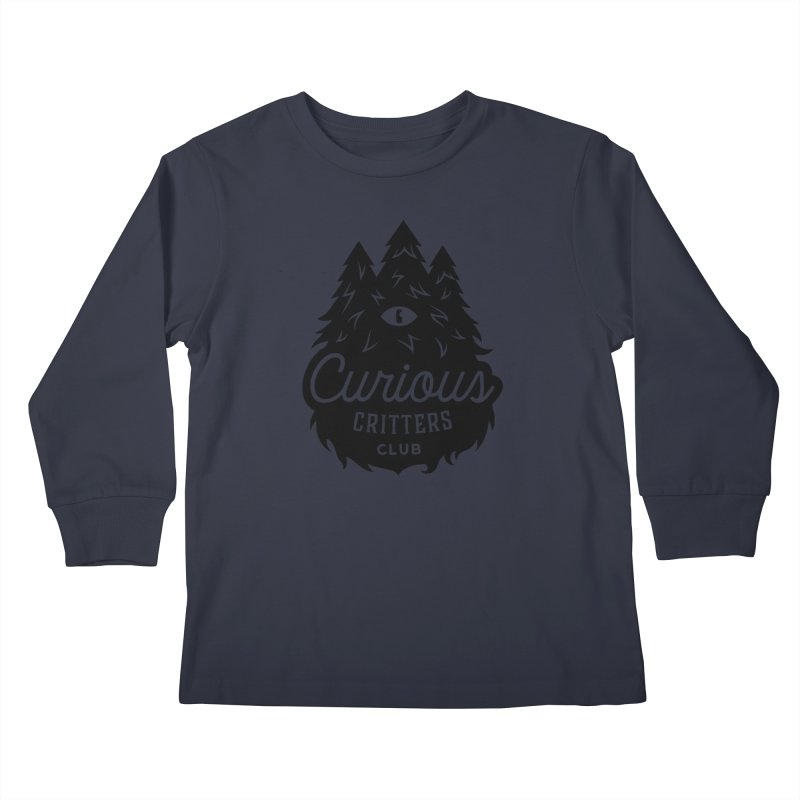 Curious Critters Club - Logo English Kids Longsleeve T-Shirt by kilopop's Artist Shop