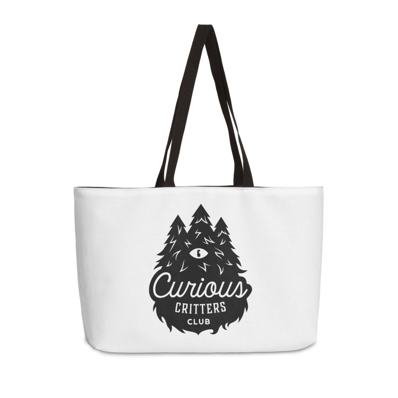 Curious Critters Club - Logo English Accessories Weekender Bag Bag by kilopop's Artist Shop