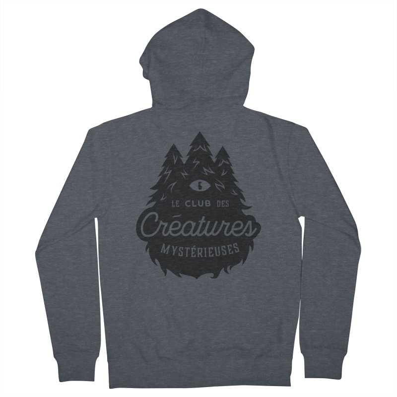 Curious Critters Club - Logo French Men's French Terry Zip-Up Hoody by kilopop's Artist Shop
