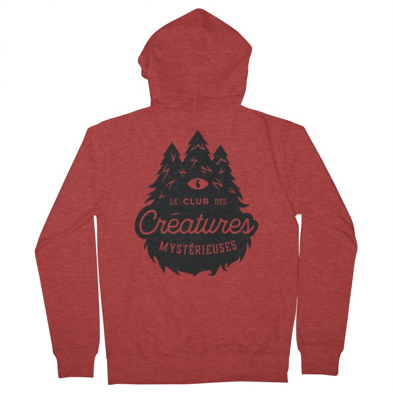 Curious Critters Club - Logo French Men's Zip-Up Hoody by kilopop's Artist Shop