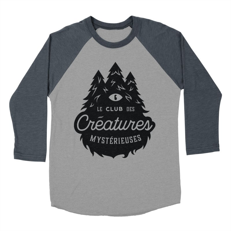 Curious Critters Club - Logo French Men's Baseball Triblend Longsleeve T-Shirt by kilopop's Artist Shop