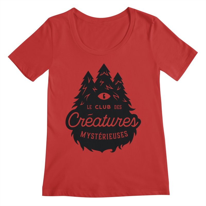 Curious Critters Club - Logo French Women's Regular Scoop Neck by kilopop's Artist Shop