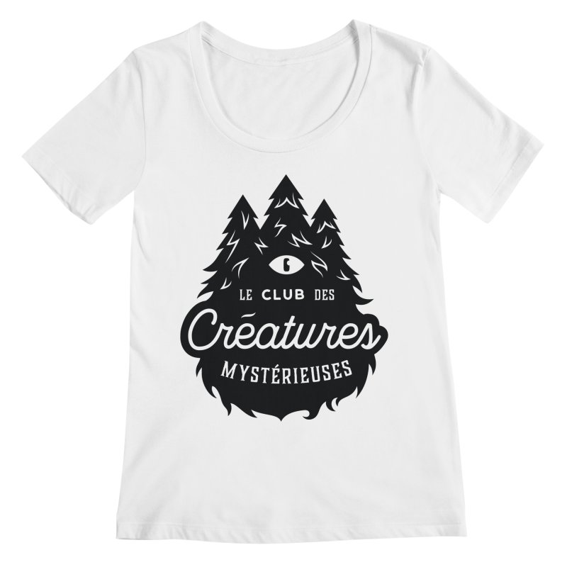Curious Critters Club - Logo French Women's Scoopneck by kilopop's Artist Shop