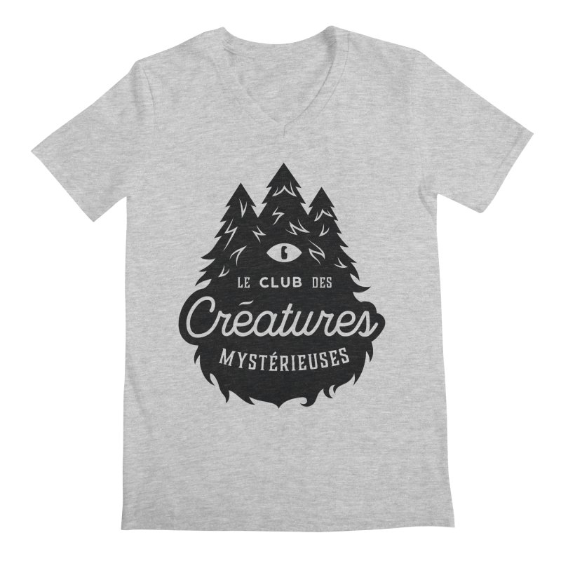 Curious Critters Club - Logo French Men's Regular V-Neck by kilopop's Artist Shop