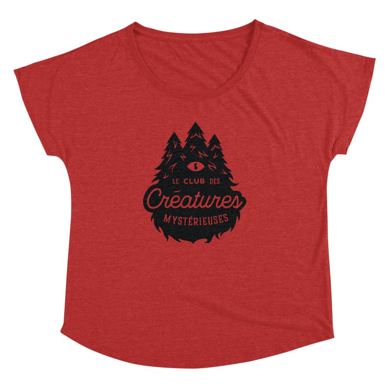 Curious Critters Club - Logo French Women's Dolman Scoop Neck by kilopop's Artist Shop